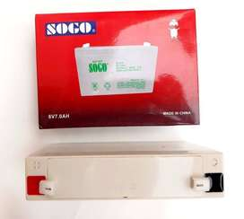 NEW SOGO Rechargeable Maintenance Free Dry Battery 6V 7.0AH COD