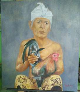 Lukisan menimang jagoan