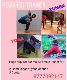 Need Zumba, Yoga, Dance Trainer