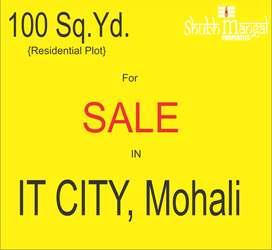 100 Gaj Park Facing plot in IT City, Mohali at normal Location