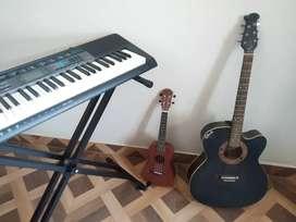 Casio CTK2550 + Biswas guitar + Juarez ukelele