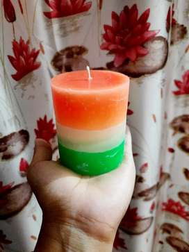 Tri colour candle