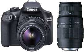 Camera with Tripod for rent in chennai - Canon EOS 1300D DSLR Camera