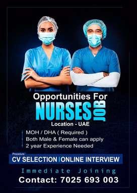 Nurse job for OVERSEAS