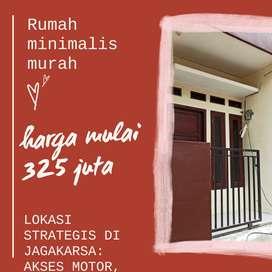 Rumah minimalis 2 lantai akses motor di Jagakarsa cash only 350 juta