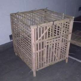 Kandang kayu rakitan ukuran 1x1m persegi