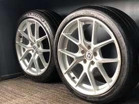 17 inch 100 pcd HRE alloy wheel with tyres