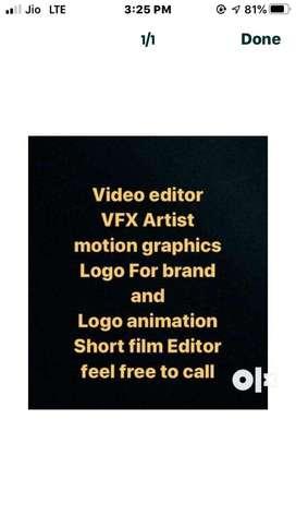 video editor animation work