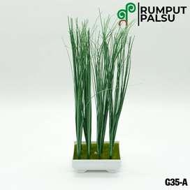 Tembikar Pot Grass Rumput Sintetis