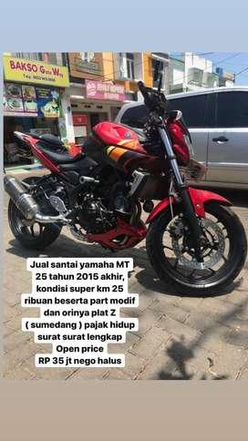 Yamaha MT 25 2015 terawat mulus
