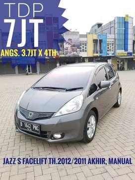 TDP 7jt, Honda Jazz S Facelift Manual th.2011 Akhir bln12, siap pakai