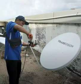 Pemasangan murah Transvision HD resmi kota Bandung free instalasi