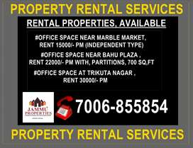 OFFICES AVAILABLE IN AND AROUND  GANDHI NAGAR, TRIKUTA NAGAR, CHANNI