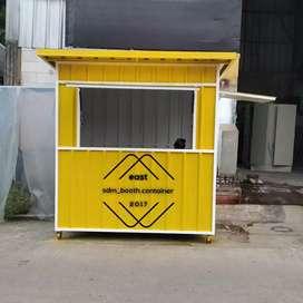 Booth container, booth makanan, booth Bazaar, booth roti bakar