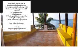 River touch designer villa for long term rent in Querim
