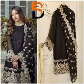 Agha Noor Shifon Embroided suit