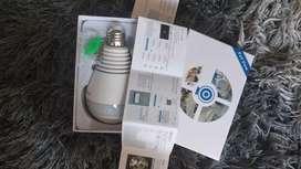 Lampu bohlam kamera cctv wifi wireless praktis