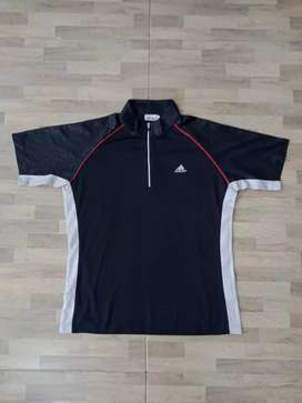 Adidas golf halfzipper shirt Hitam2
