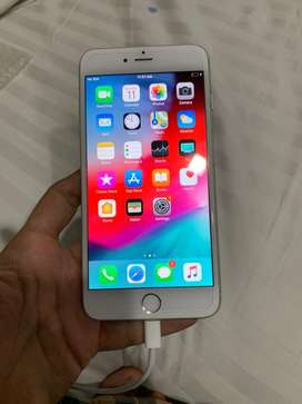 Apple iPhone 6 Plus 64GB White Silver Color Excellent Maintained