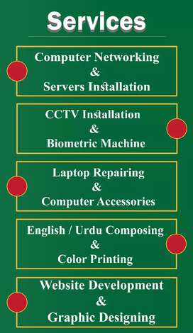 Provide Networking, Server, Biometric, Computer Laptops Repair, Sales