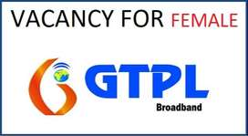 For Girls-GTPL Broadband-looking for Sales Executives & Marketing