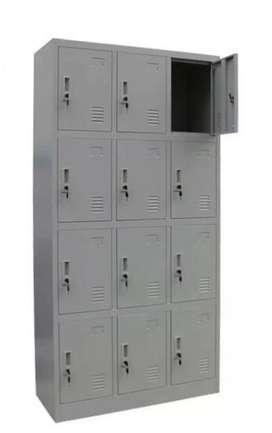 Loker Kantor Serbaguna 12 Pintu + Kunci + Handle (Warna Cream)