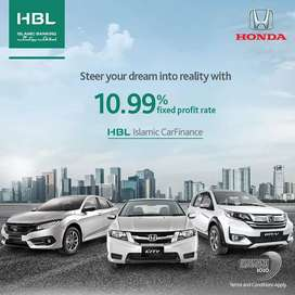 HBL Islamic is offering best Honda Deal