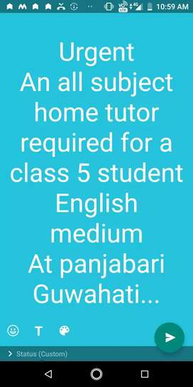 Home tutor for primary class