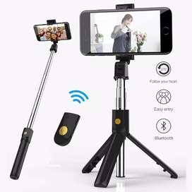 Tongkat Selfie Pakai Remote Kamera Bluetooth