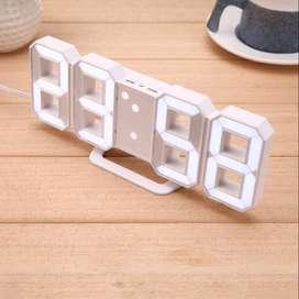 Jam LED Digital 3D Besar Meja Dinding Clock Desktop Suhu Tanggal Alarm
