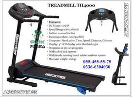 Heavy Duty Brand New Box Pack AMERICAN FITNESS TREADMILL (TH 4000)