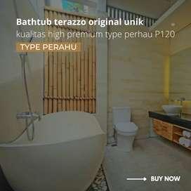 bathtub terrazo original unik kualitas high premium type perahu P120