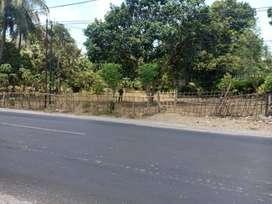 Tanah di pinggir jalan raya bengkel menuju kediri