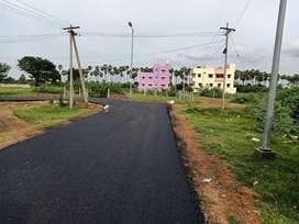 Singaperumal koil Srivari nagar near DTCP approved plot for sale per