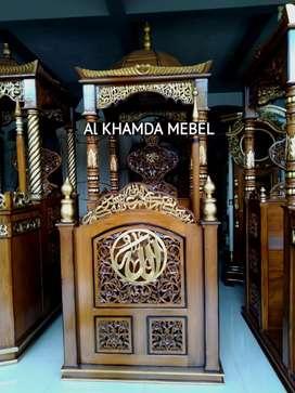 Terima Pesanan Mimbar Masjid Material Kayu Jati Berkualitas B40