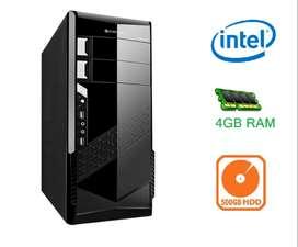 New i3/i5 Cpu With (4gb Ram/500gb Hdd/Atx/H61/Intel Graphics)