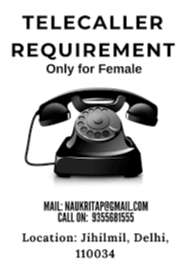 Wanted Telecallers (Male & Female) In Nearest HSR Layout