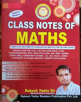 Class Notes of Maths Rakesh Yadav Sir