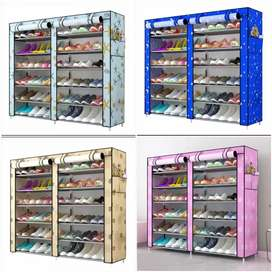 Double row shoes rack