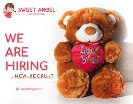 Dicari Staff Gudang Toko Boneka Sweet Angel Medan