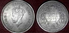 Rare To Found Silver Coin of British India Era Old India Coin Rare