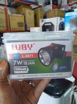 PROMO senter kepala led head lamp luby 7watt L2871 dicas (jantung acc)