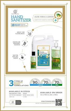 Khadi Natural Hand Sanitizers
