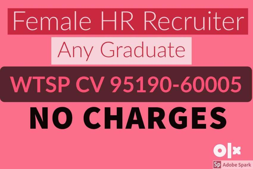 Female HR Recruiter, Graduate, Wtsp CV 9519O6OOO5 0