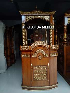 Ready Mimbar Masjid Material Kayu Jati Berkualitas @585