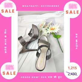 Branded Grey Heels- 50% Flat Discount for Today