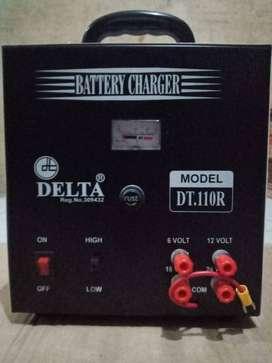 BATERAI CHARGER DELTA DT 110 R (CHARGER AKI / CAS AKI)