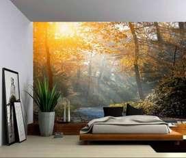 wallpaper wallsticker ruang rumah kantor puskesmas rumah sakit