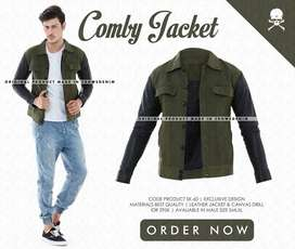 Jaket Comby Dark Green Black Collection SK60