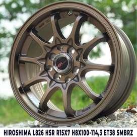 free ongkir HIROSHIMA L826 HSR R15X7 H8X100-114,3 ET38 SMBRZ